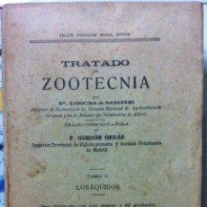 Libros antiguos: DECHAMBRE. TRATADO DE ZOOTÉCNIA. TOMO II: LOS ÉQUIDOS. C. 1911. Lote 91411380