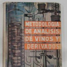 Libros antiguos: METODO DE ANALISIS DE VINOS Y DERIVADOS. JUAN GARCÍA BARCELÓ.1976.. Lote 92083690