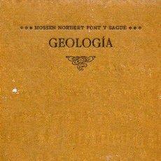 Libros antiguos: FONT Y SAGUÉ : GEOLOGÍA DINÀMICA Y ESTRATIGRÁFICA APLICADA A CATALUNYA (THOMAS, 1905) CATALÁN. Lote 92790635