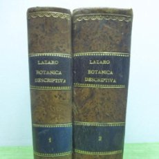 Libros antiguos: BOTÁNICA DESCRIPTIVA-COMPENDIO DE LA FLORA ESPAÑOLA-BLAS LÁZARO É IBIZA-TOMO I Y II-1ª EDICIÓN 1896. Lote 94403774