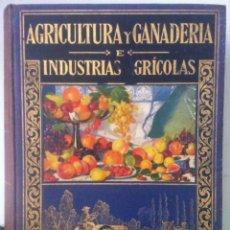 Libros antiguos: ANTONIO GARCÍA ROMERO. AGRICULTURA Y GANADERÍA E INDUSTRIAS AGRÍCOLAS. 1933. Lote 95356795