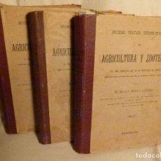 Libros antiguos: NOVISIMO TRATADO TEORICO PRACTICO DE AGRICULTURA Y ZOOTECNIA. Lote 95387011