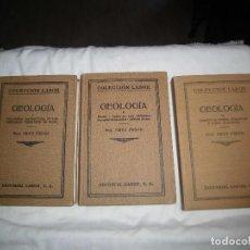 Libros antiguos: GEOLOGIA.FRITZ FRECH.3 TOMOS .EDITORIAL LABOR 1926-1930. Lote 95408247