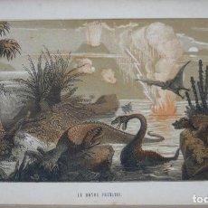Libros antiguos: 1862 - PREHISTORIA - PALEONTOLOGÍA - ILUSTRADO CON 250 GRABADOS - DINOSAURIOS - HISTORIA NATURAL . Lote 95799079