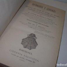 Libros antiguos: COSMOGONIA Y GEOLOGIA.ORIGEN DEL SISTEMA DEL UNIVERSO....TAPAS PIEL AÑO.1.877....HOJAS DESPLEGABLES.. Lote 95885991