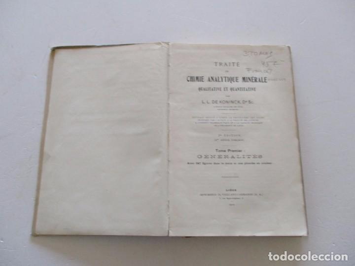 Libros antiguos: Traité de Chimie Analytique Minérale qualitative et quantitative. TRES TOMOS. RM82449. - Foto 2 - 96168703