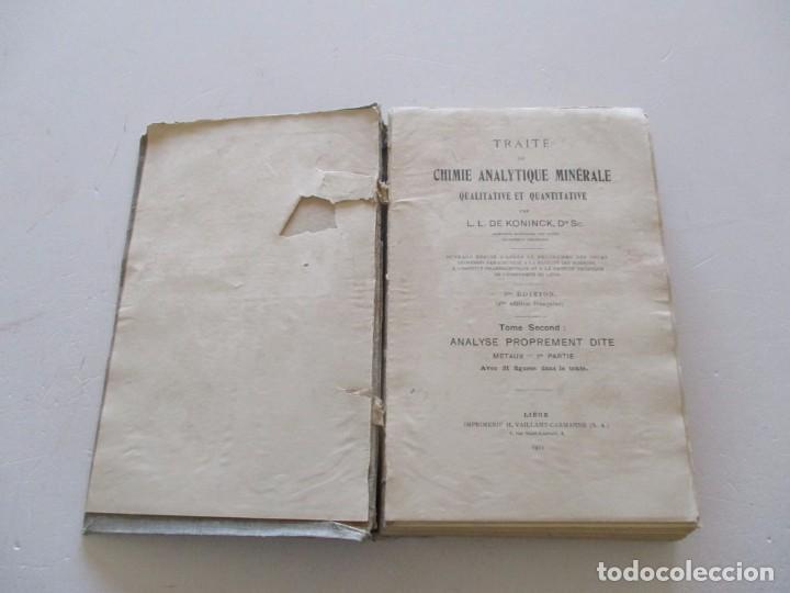 Libros antiguos: Traité de Chimie Analytique Minérale qualitative et quantitative. TRES TOMOS. RM82449. - Foto 4 - 96168703