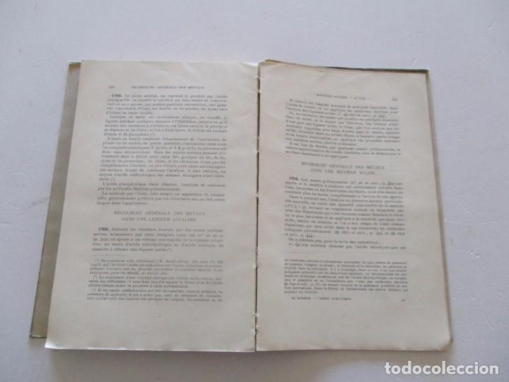 Libros antiguos: Traité de Chimie Analytique Minérale qualitative et quantitative. TRES TOMOS. RM82449. - Foto 7 - 96168703