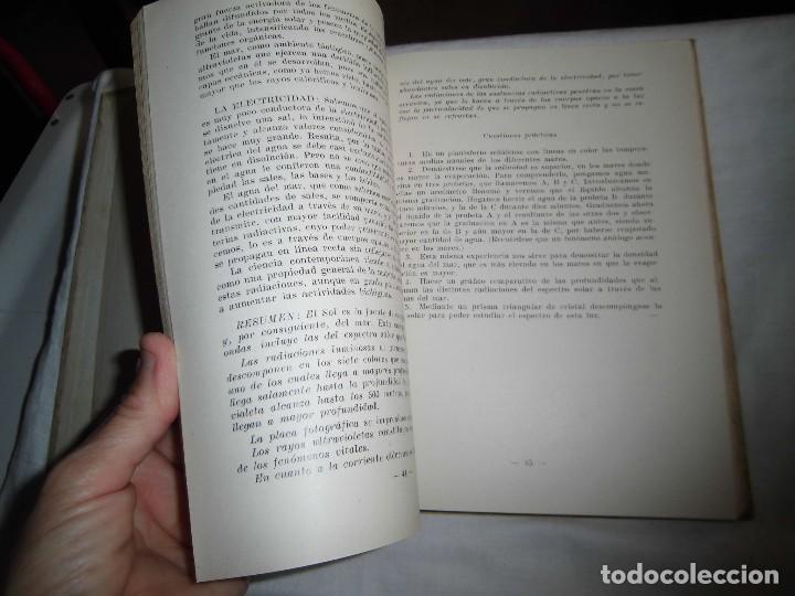 Libros antiguos: FISICA QUIMICA Y BIOLOGIA DEL MAR FAUNA Y FLORA MARINAS.LUIS ALABART BALLESTEROS.4º CURSO BACHILLER - Foto 8 - 96186843