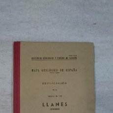 Libros antiguos: MAPA GEOLÓGICO DE ESPAÑA. EXPLICACIÓN DE LA HOJA Nº 32 LLANES (1950). Lote 96370055