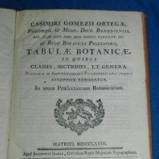 Libros antiguos: (MF) BOTANICA - CASIMIRI GOMEZII ORTEGAE - TABULAE BOTANICAE IN QUIBUS CLASSES , MATRITI MDCCLXXIII. Lote 97389155