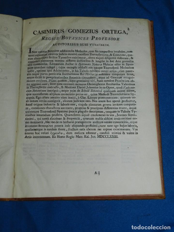 Libros antiguos: (MF) BOTANICA - CASIMIRI GOMEZII ORTEGAE - TABULAE BOTANICAE IN QUIBUS CLASSES , MATRITI MDCCLXXIII - Foto 2 - 97389155