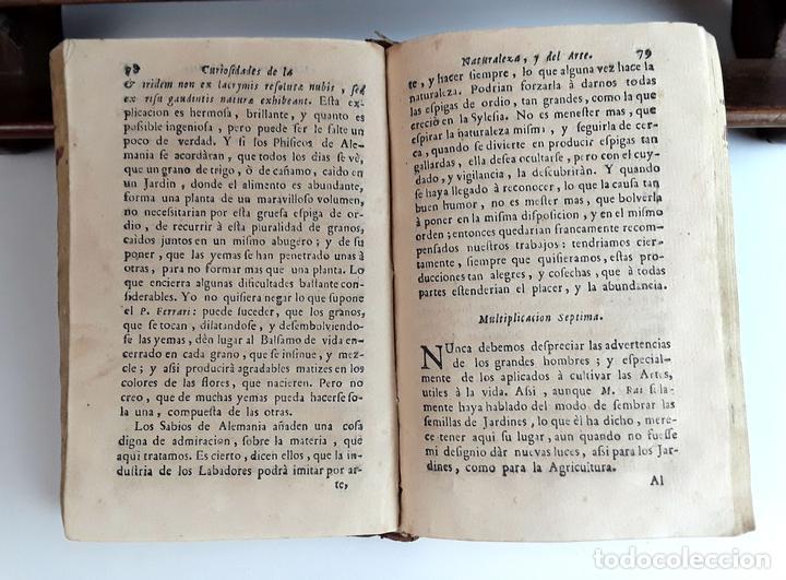 CURIOSIDADES DE LA NATURALEZA . ABAD VALLEMONT. EDIT. ANTONIO OROZCO. 1768. (Libros Antiguos, Raros y Curiosos - Ciencias, Manuales y Oficios - Bilogía y Botánica)