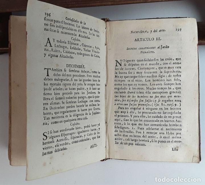Libros antiguos: CURIOSIDADES DE LA NATURALEZA . ABAD VALLEMONT. EDIT. ANTONIO OROZCO. 1768. - Foto 4 - 97705179