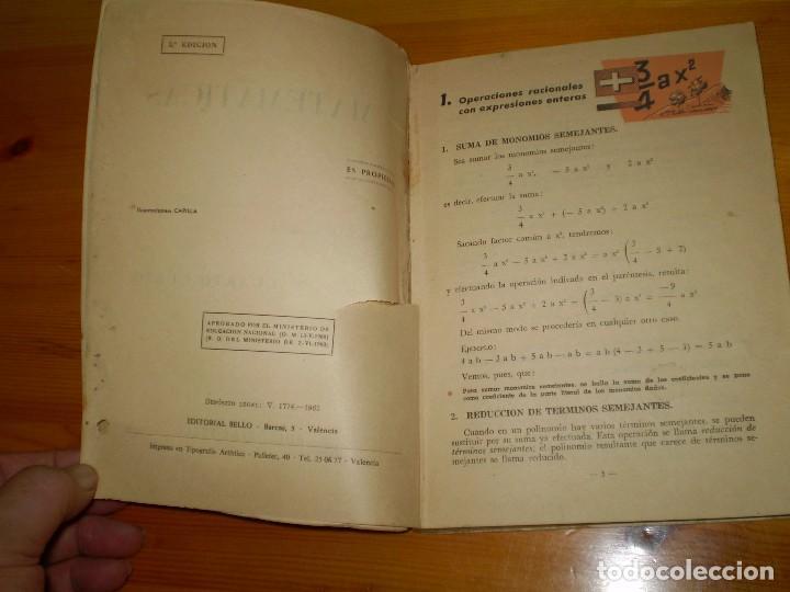 Libros antiguos: MATEMATICAS - CURSO 4º - GARCIA ROCA - 2ª EDICION 1961 - VER FOTOS DETALLES - Foto 4 - 97969823