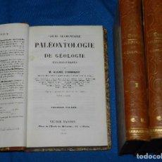 Libros antiguos: (MF) M ALCIDE D'ORBIGNY - COURS ELEMENTAIRE DE PALEONTOLOGIE ET DE GEOLOGIE STRATIGRAPHIQUES 1849. Lote 98578095