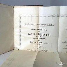 Libros antiguos: ESTUDIO GEOLÔGICO DE LANZAROTE Y DE LAS ISLETAS CANARIAS. (1909) (H PACHECO. MEMORIAS DE LA REAL SOC. Lote 98661535
