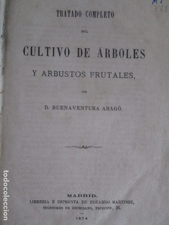 Libros antiguos: TRATADO COMPLETO DEL CULTIVO DE ARBOLES Y ARBUSTOS FRUTALES. BUENAVENTURA ARAGO. 1874 - Foto 11 - 98701191