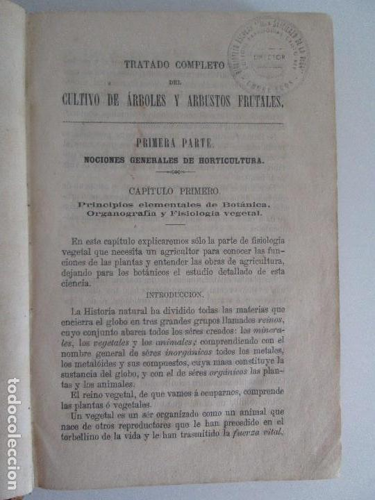 Libros antiguos: TRATADO COMPLETO DEL CULTIVO DE ARBOLES Y ARBUSTOS FRUTALES. BUENAVENTURA ARAGO. 1874 - Foto 12 - 98701191