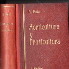 Libros antiguos: ROGELIO PEÑA : HORTICULTURA Y FLORICULTURA (MONTESÓ, 1934) MUY ILUSTRADO. Lote 98782035