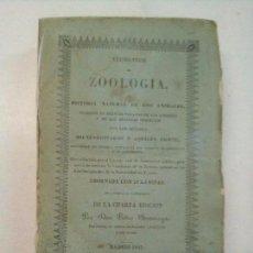 Libros antiguos: ELEMENTOS DE ZOOLOGÍA Ó HISTORIA NATURAL DE LOS ANIMALES (1843). Lote 100281499