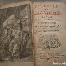 Libros antiguos: 1730 TRES TOMOS DE LA REAL ACADEMIA DE LAS CIENCIAS, VER FOTOS Y ESTADO. Lote 100360083