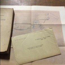 Libros antiguos: LA CAVERNA DE LA PEÑA CANDAMO- LÁMINA DEL MURO DE 90X40. ESCALA 1:9 - EDUARDO HERNANDEZ PACHECO 1919. Lote 100551703
