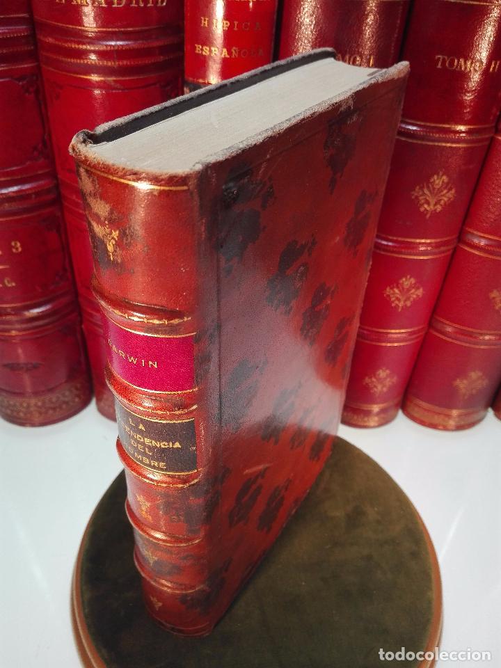 LA DESCENDENCIA DEL HOMBRE Y LA SELECCIÓN EN RELACION AL SEXO - CHARLES DARWIN - MADRID - 1885 - (Libros Antiguos, Raros y Curiosos - Ciencias, Manuales y Oficios - Bilogía y Botánica)