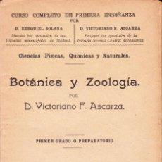 Libros antiguos: CURSO COMPLETO DE 1ª ENSEÑANZA. POR EZEQUIEL SOLANA Y VICTORIANO F.ASCARZA. Lote 101388055