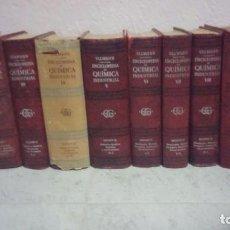 Libros antiguos: ENCICLOPEDIA QUIMICA INDUSTRIAL ULLMAN 8 TOMOS. Lote 102471103