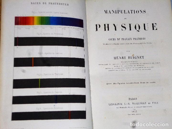 Libros antiguos: MANIPULATIONS DE PHYSIQUE. COURS DE TRAVAUX PRATIQUES (1877) - Foto 2 - 102523767