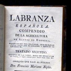 Libros antiguos: 1769 - ALONSO DE HERRERA - VIDES - VINOS - LABRANZA - TRATADO SEGUNDO. Lote 102621031