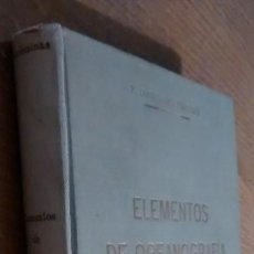 Libros antiguos: ELEMENTOS DE OCEANOGRAFIA. F. CONDEMINAS MASCARO- 1ª EDICION 1928. Lote 103224799