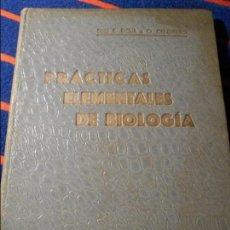 Libros antiguos: PRACTICAS ELEMENTALES DE BIOLOGIA. POR ENRIQUE RIOJA LO BIANCO Y ORESTES CENDRERO CURIEL. SANTANDER,. Lote 103237803
