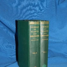 Libros antiguos: (MF) CHARLES DARWIN - THE VARIATION OF ANIMALS AND PLANTS UNDER DOMESTICATION 1868 , 1 EDICION. Lote 103415203