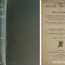 Libros antiguos: LOCK, CH. G.[ET ALII]. SUGAR GROWING AND REFINING. A COMPREHENSIVE TREATISE ON THE CULTURE... 1882.. Lote 103672863