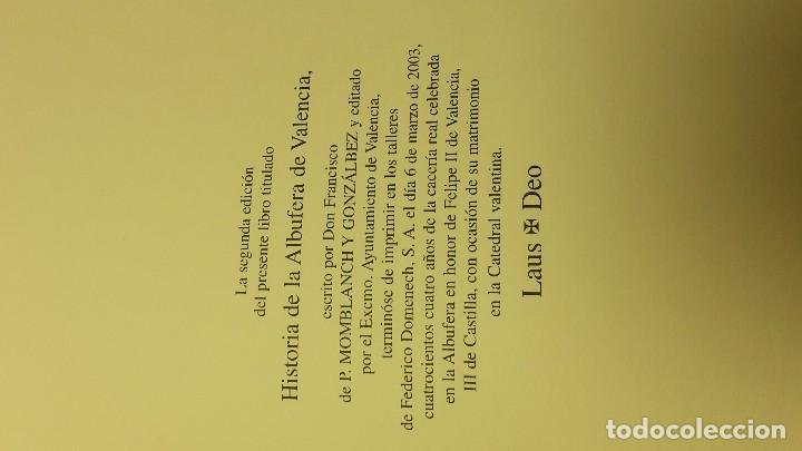 Libros antiguos: HISTORIA DE LA ALBUFERA DE VALENCIA. - MOMBLANCH Y GONZALEZ, - Foto 6 - 103709515