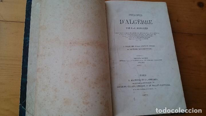 Libros antiguos: PRINCIPES D' ALGEBRE - BOBILLIER - HACHETTE PARÍS 1877 - LIBRO EN FRANCÉS - Foto 2 - 104063095