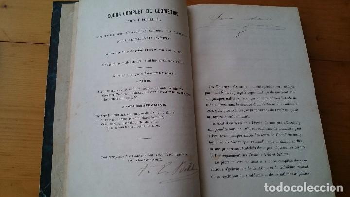 Libros antiguos: PRINCIPES D' ALGEBRE - BOBILLIER - HACHETTE PARÍS 1877 - LIBRO EN FRANCÉS - Foto 3 - 104063095