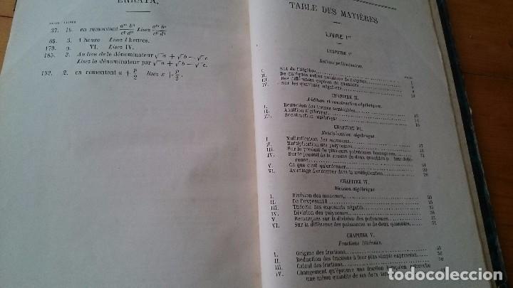 Libros antiguos: PRINCIPES D' ALGEBRE - BOBILLIER - HACHETTE PARÍS 1877 - LIBRO EN FRANCÉS - Foto 4 - 104063095