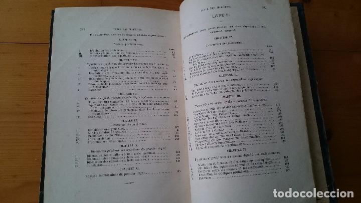 Libros antiguos: PRINCIPES D' ALGEBRE - BOBILLIER - HACHETTE PARÍS 1877 - LIBRO EN FRANCÉS - Foto 5 - 104063095