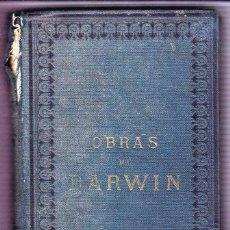 Libros antiguos: DARWIN EL ORIGEN DE LAS ESPECIES EDITORIAL PEROJO 1877 1ª EDICION ESPAÑOLA. Lote 104741523