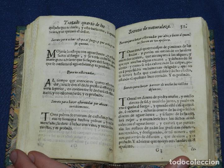 Libros antiguos: (MF) GERONIMO CORTES - LIBRO DE FISONOMIA NATURAL Y VARIOS SECRETOS DE LA NATURALEZA , VALENCIA 1700 - Foto 4 - 104886575