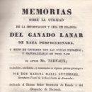 Libros antiguos: TERNAUX. UTILIDAD DE LA IMPORTACIÓN Y CRÍA DEL GANADO LANAR Y MODO DE CRUZARLO. MADRID, 1831. Lote 105809815