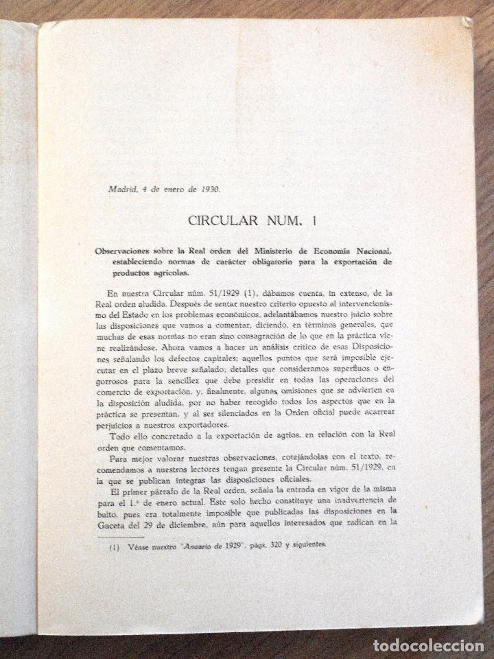 Libros antiguos: UNIÓN NACIONAL DE LA EXPORTACIÓN AGRÍCOLA - ANUARIO DE 1930 - POR SILICEO - Foto 4 - 107129123