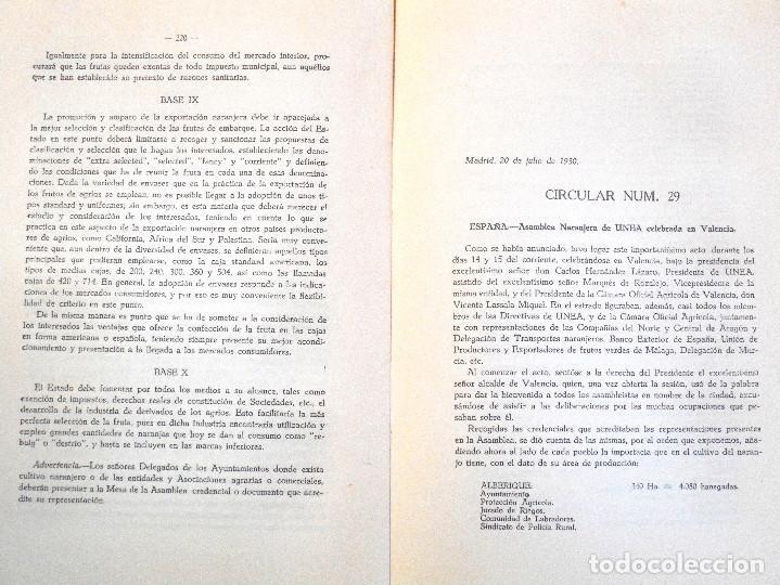 Libros antiguos: UNIÓN NACIONAL DE LA EXPORTACIÓN AGRÍCOLA - ANUARIO DE 1930 - POR SILICEO - Foto 5 - 107129123