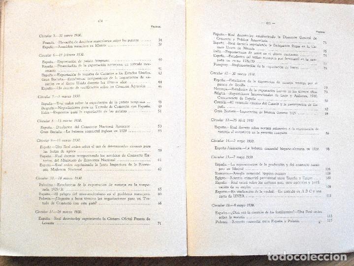 Libros antiguos: UNIÓN NACIONAL DE LA EXPORTACIÓN AGRÍCOLA - ANUARIO DE 1930 - POR SILICEO - Foto 8 - 107129123