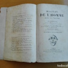 Libros antiguos: DE LA PLACE DE L'HOMME DANS LA NATURE. HUXLEY, TH[OMAS] H[ENRY] 1868. Lote 107884983