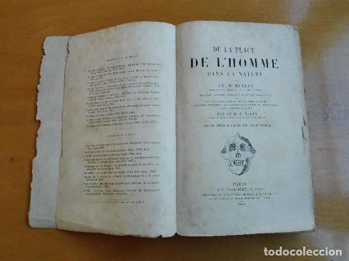 Libros antiguos: De la place de l'homme dans la nature. Huxley, Th[omas] H[enry] 1868 - Foto 4 - 107884983