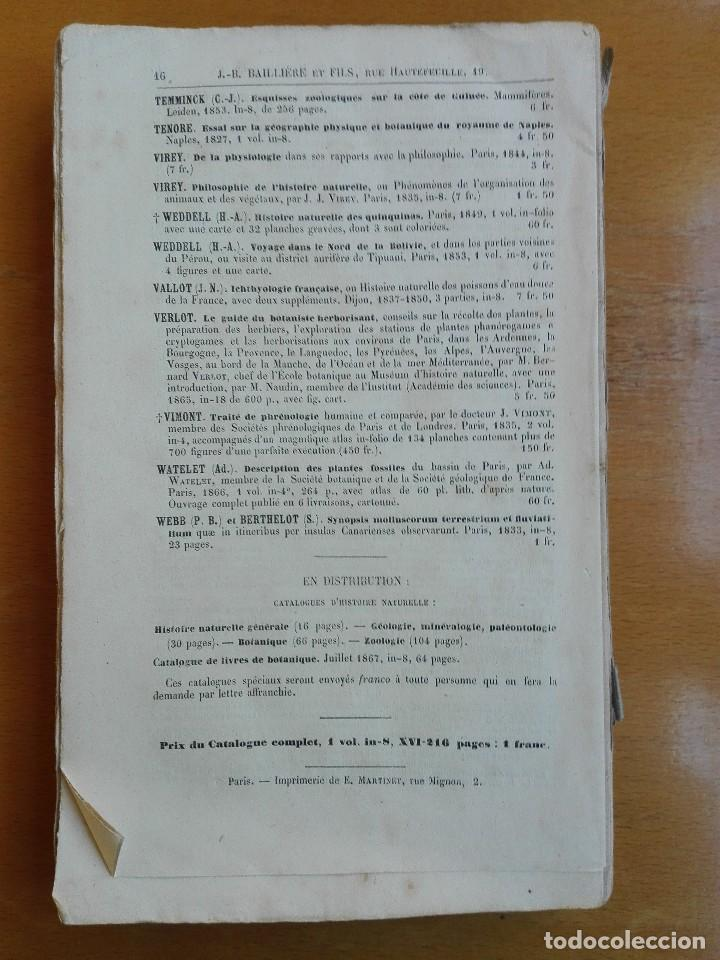 Libros antiguos: De la place de l'homme dans la nature. Huxley, Th[omas] H[enry] 1868 - Foto 8 - 107884983